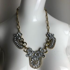 Statement Necklace gold with Crystal